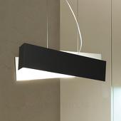 Linea Light Extravagante hanglamp ZIG ZAG, zwart-wit