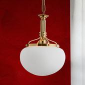 ORION 1-lichts hanglamp DELIA, in messing kleuren