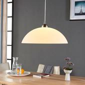 Lampenwelt Ronde glazen hanglamp Valeria voor in de keuken