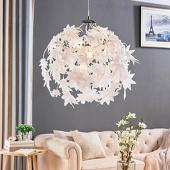 Lampenwelt Hanglamp Maple met bladmotief