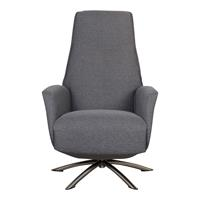 Relaxfauteuil Montese Donkergrijs