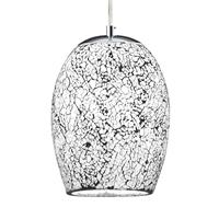 Searchlight Witte chroom hanglamp Crackle