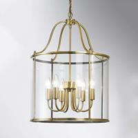 ORION Hanglamp Rieka, ronde lantaarnvorm, 43 cm