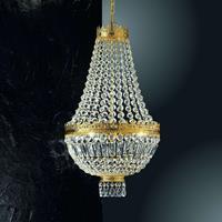 Kögl 24-karaats vergulde hanglamp Cupola