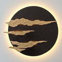 J. Holländer Firmamento - zwart-gouden LED wandlamp