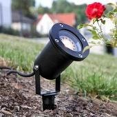 Lampenwelt Zwarte buitenspot Tessa met grondspies