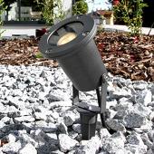 Lampenwelt Tessa - buitenspot met grijze grondspies