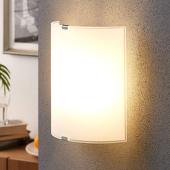 Lampenwelt Eenvoudige glazen wandlamp Phil