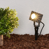 Lampenwelt Grondspieslamp Jiada met LED's