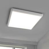 Lampenwelt Discrete LED plafondlamp Augustin, IP54 40 cm