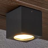 Lampenwelt Hoekige led-plafondlamp Meret voor buiten