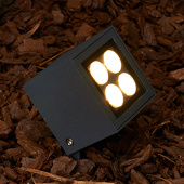 Lampenwelt Led-buitenspot met grondspies Charlie met IP65