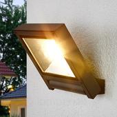 Lampenwelt Donkergrijze LED spot Maico voor buiten