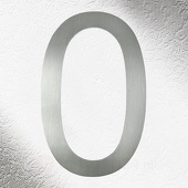 CMD Rvs huisnummers 0, goede kwaliteit