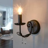 Lampenwelt Wandlamp Sophina in kroonluchter stijl