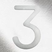 CMD Rvs huisnummers 3, goede kwaliteit