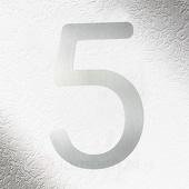 CMD Rvs huisnummers 5, goede kwaliteit