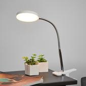 Lampenwelt Klemtafellamp Milow met led en flexibele arm