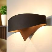 Selene Bronzen design-wandlamp Scudo