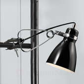 Glanzende klemlamp Clone zwart