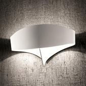 Selene Witte design-wandlamp Scudo