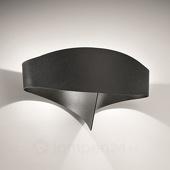 Selene Zwarte design-wandlamp Scudo