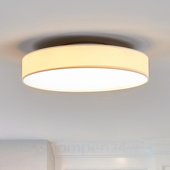 Stoffen LED-plafondlamp Saira, 40 cm, wit