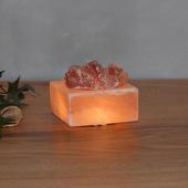 Wagner Life Petite Cube - led verlichte zoutkristallen schaal