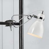 Glanzende klemlamp Clone wit