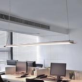 Lampenwelt Lange pendellamp Vinca met krachtige LED's