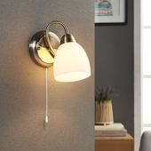 Lampenwelt Wandlamp Mael met trekschakelaar