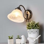 Lampenwelt Gebogen wandlamp Mialina