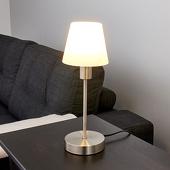 Lampenwelt Nachttafellamp Avarin met LED-lichtbron