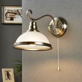 Lampenwelt Klassiek aandoende wandlamp Alicia