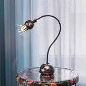 Flexibele tafellamp Poppy met bloei-effect