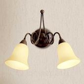 Lam Michele - 2-lichts landhuis-wandp