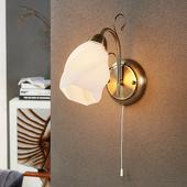 Lampenwelt Romantisch aandoende wandlamp Amedea
