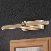 ORION LED schilderijlamp Suren in antiek messing, 30 cm