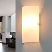 Lampenwelt Halfronde glazen wandlamp Sidra