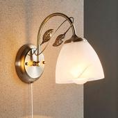 Lampenwelt Mooie wandlamp Michalina, klassieke stijl