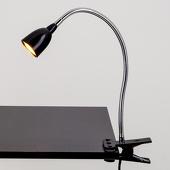 Lampenwelt Rabea - LED-klemlamp in het zwart