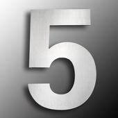 CMD Groot rvs huisnummer 5