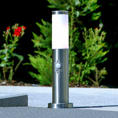Lampenwelt Bescheiden bewegingssensor-sokkellamp Kristof