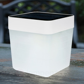 Eco-Light Modieuze LED solar tafellamp Table Cube in wit
