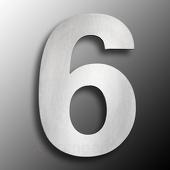 CMD Groot rvs huisnummer 6
