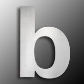 CMD Rvs-huisnummers - de letter b