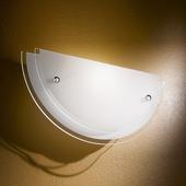 Fabas Luce Mooie, geslepen glazen wandlamp Hill