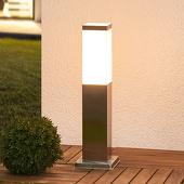 Lampenwelt Sokkellamp Lorian van roestvrij staal