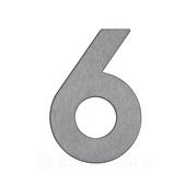 Albert Leuchten Huisnummer 6 - roestvrij staal