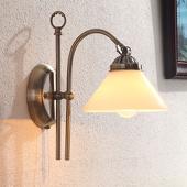 Lampenwelt Wandlamp Otis met antieke uitstraling